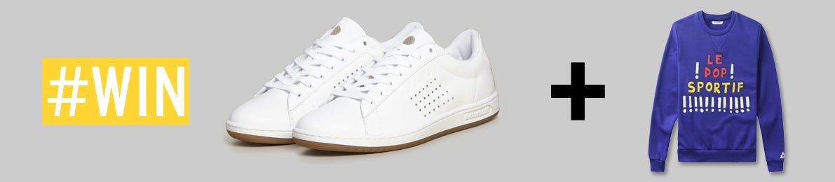 Win Arthur Ashe Gum Trainers and a Le Coq Sportif Sweatshirt
