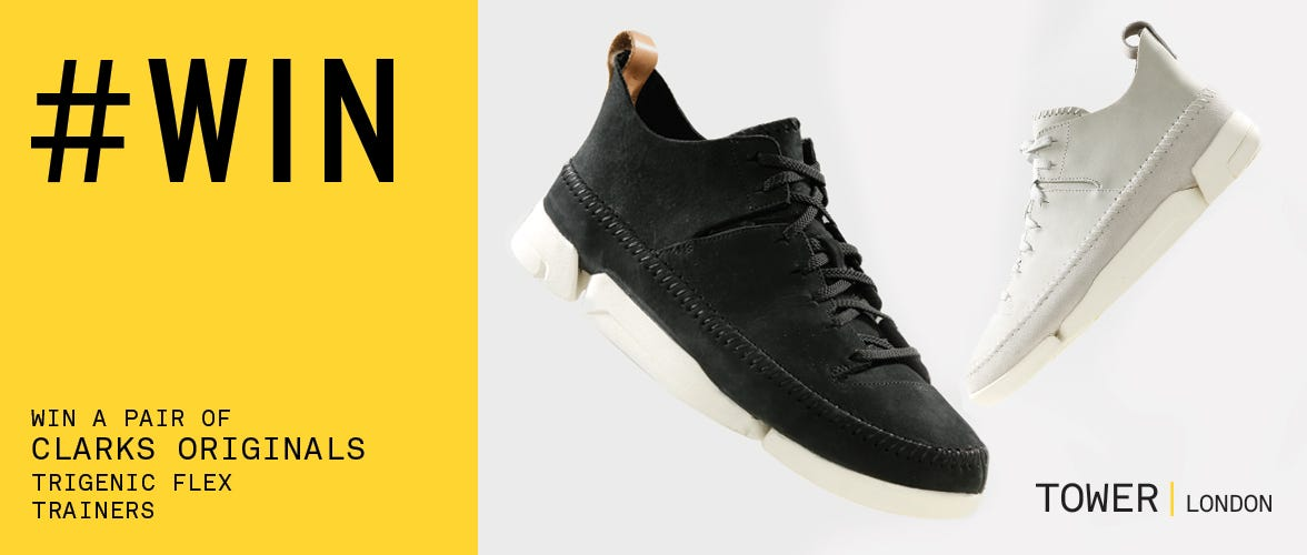 Win a pair of Clarks Originals Trigenic Flex Trainers