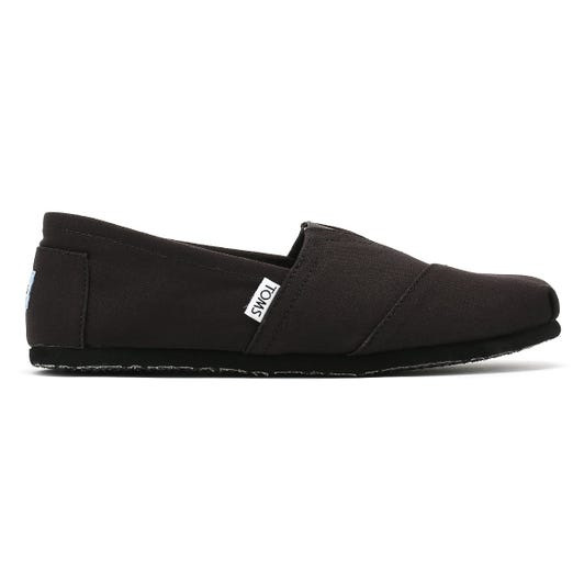 TOMS Womens All Black Canvas Classic Espadrilles