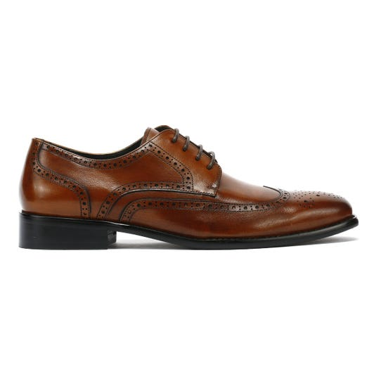 TOWER London Brogue Mens Tan Leather Shoes