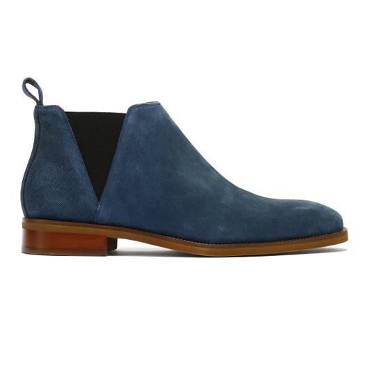 TOWER London Chelsea Mens Navy Suede Boots