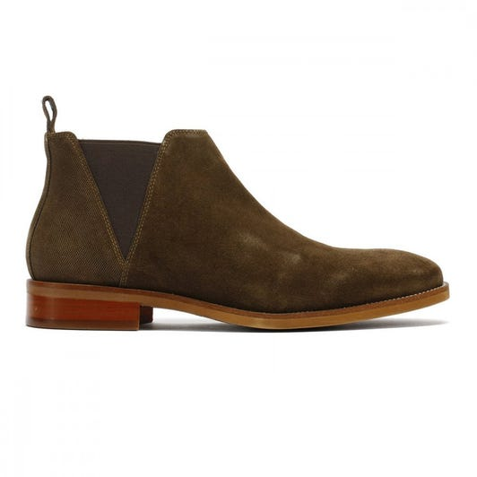 TOWER London Chelsea Mens Khaki Suede Boots