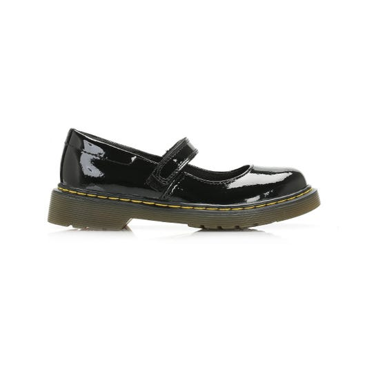 Dr. Martens Maccy Junior Black Patent Shoes