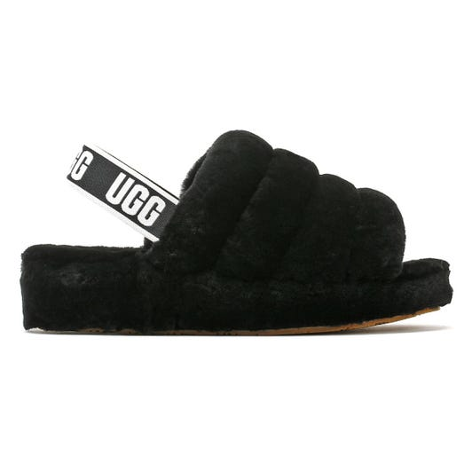 UGG Womens Black Fluff Yeah Slides