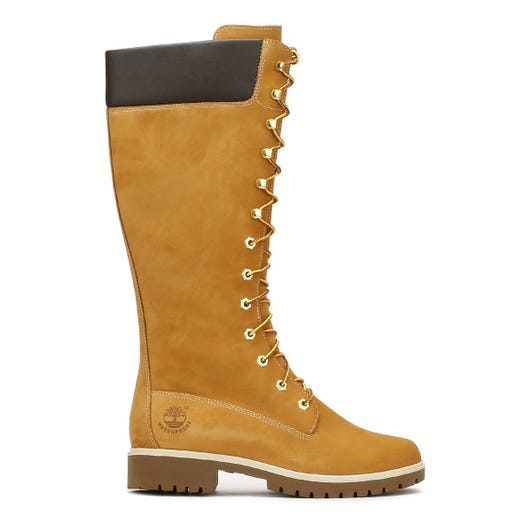 Timberland 14 Inch Premium Womens Wheat Leather Boots