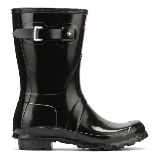 Hunter Original Womens Gloss Short Black Wellington Boots