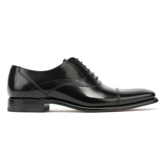 Loake Sharp Mens Black Leather Shoes