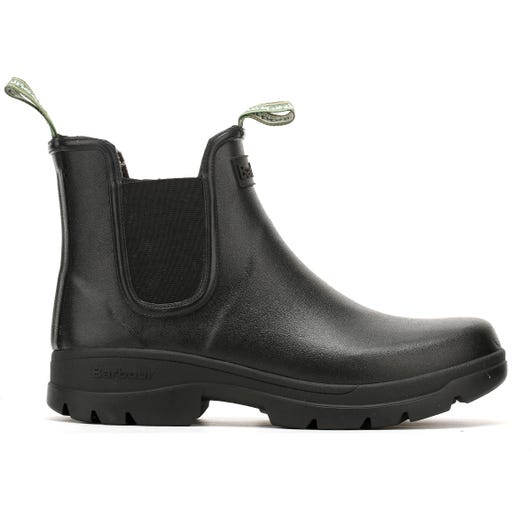 Barbour Fury Chelsea Mens Black Wellies