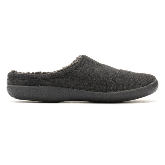 TOMS Mens Black Wool Berkeley Slippers