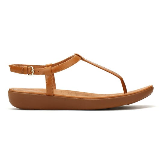 FitFlop Womens Caramel Tan Tia Sandals