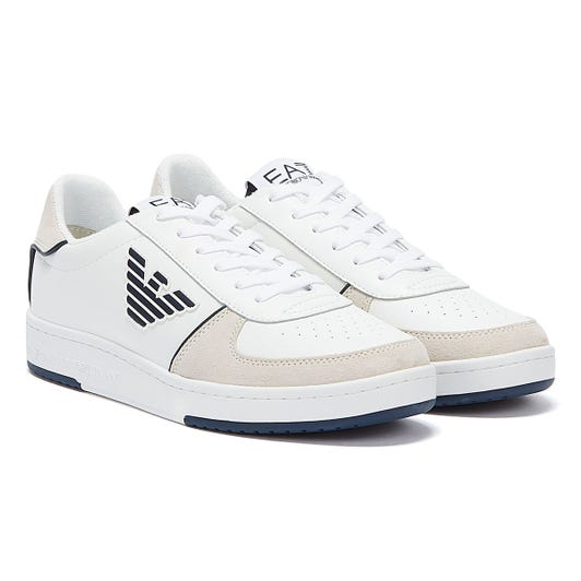 Emporio Armani EA7 New Millennium Mens White / Navy Trainers