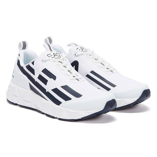 Emporio Armani EA7 Ultimate C2 Kombat Mens White / Navy Trainers