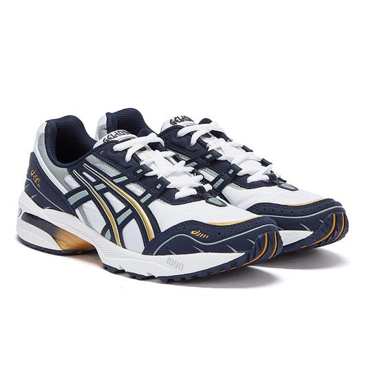 Asics Gel 1090 Mens White / Black / Gold Trainers