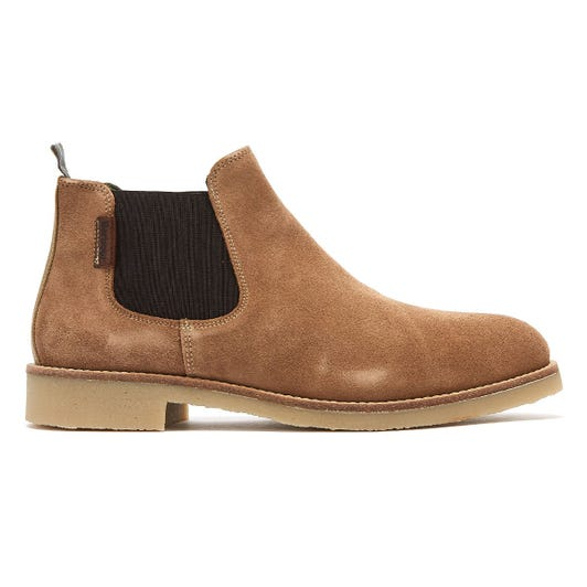Barbour Nicole Womens Taupe Suede Boots