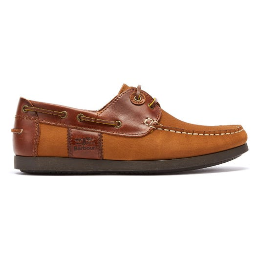 Barbour Capstan Mens Brown Boat Shoes