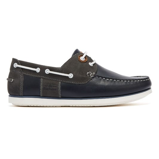 Barbour Capstan Mens Navy Boat Shoes