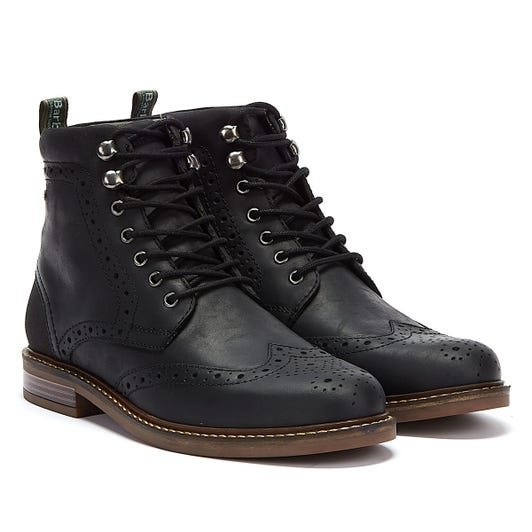 Barbour Seaton Mens Black Boots