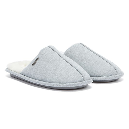 Barbour Maddie Jersey Womens Grey Slippers