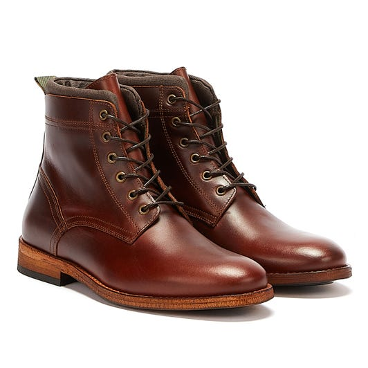 Barbour Backworth Leather Mens Dark Brown Boots