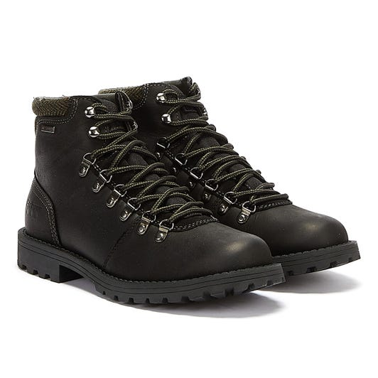 Barbour Quantock Hiker Mens Black Boots