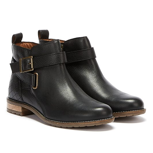 Barbour Jane Leather Womens Black Boots