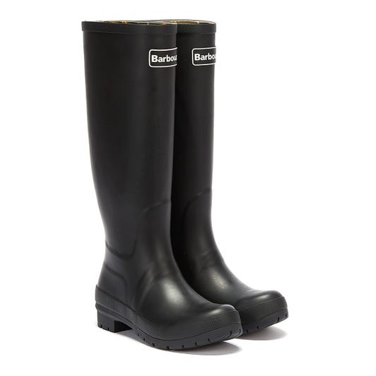 Barbour Abbey Womens Black Wellies