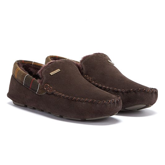 Barbour Mens Brown Monty Slippers