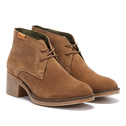 Barbour Edele Womens Taupe Suede Boots