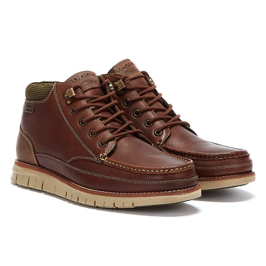 Barbour Victory Mens Teak Brown Boots