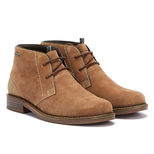 Barbour Readhead Suede Mens Beige Boots
