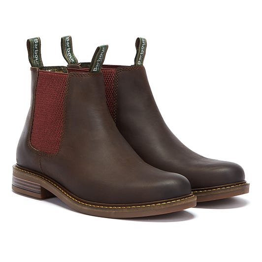 Barbour Farsley Suede Mens Dark Brown Boots
