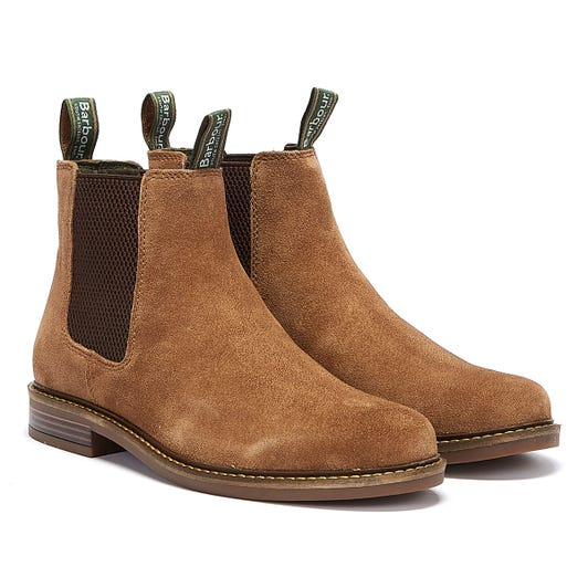 Barbour Farsley Suede Mens Light Brown Boots