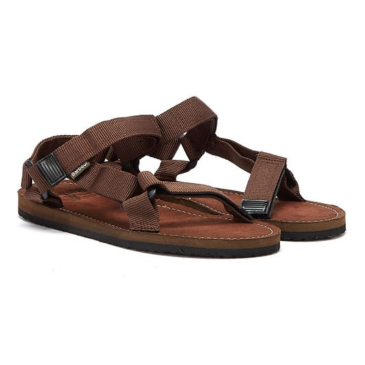 Barbour Hillman Mens Brown Sandals