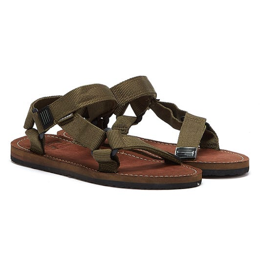 Barbour Hillman Mens Olive Sandals