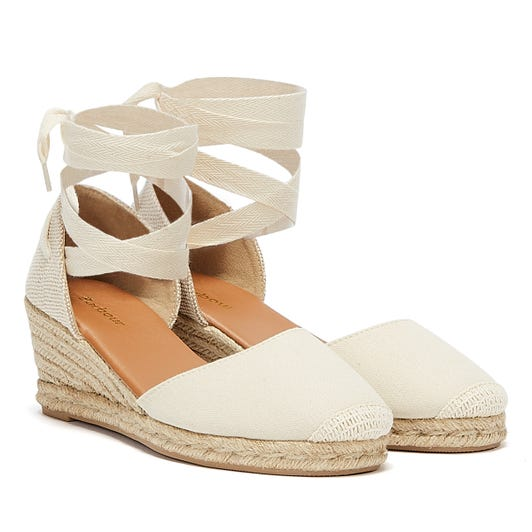 Barbour Amara Womens Cream Wedges
