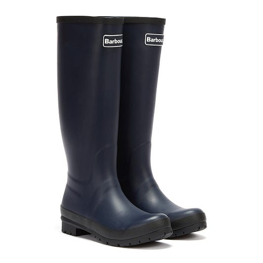 Barbour Abbey Womens Navy Wellies