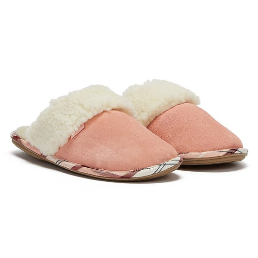 Barbour Lydia Mule Womens Light Pink Slippers