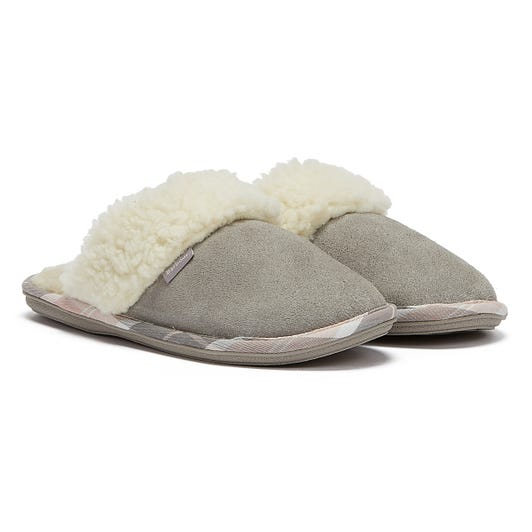 Barbour Lydia Mule Womens Light Grey Slippers
