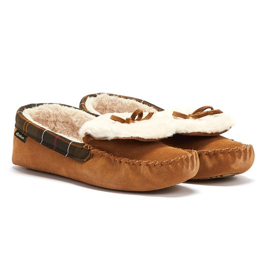 Barbour Darcie Womens Tan Slippers