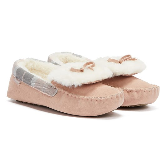 Barbour Darcie Womens Light Pink Slippers