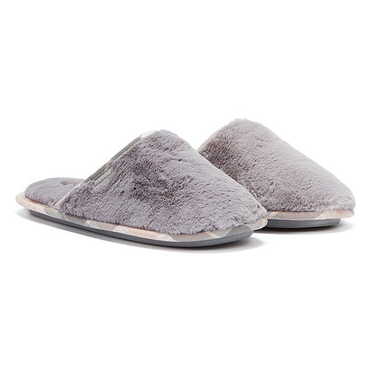 Barbour Agatha Womens Light Grey Slippers