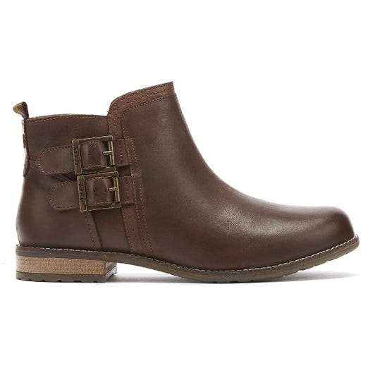Barbour Sarah Low Buckle Womens Brown Boots