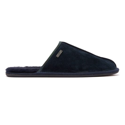Barbour Malone Mens Navy Slippers