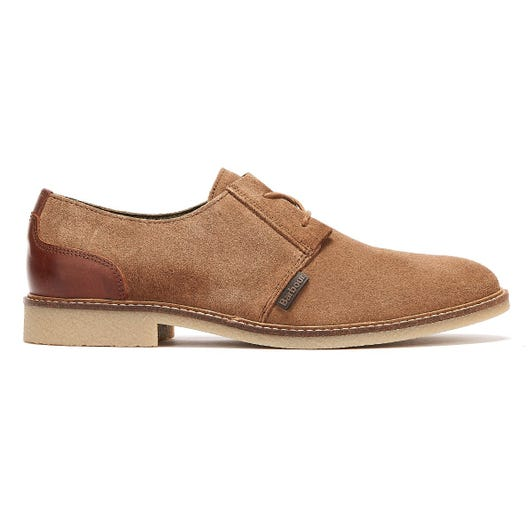 Barbour Gobi Suede Mens Taupe Shoes