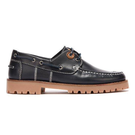 Barbour Stern Leather Mens Navy Shoes