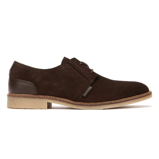 Barbour Gobi Suede Mens Chocolate Brown Shoes