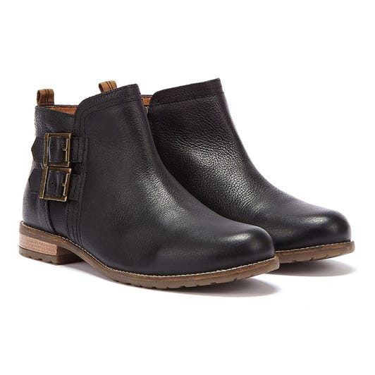 Barbour Sarah Low Buckle Womens Black Boots