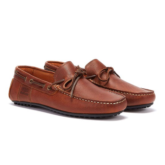 Barbour Eldon Mens Tan Leather Loafers