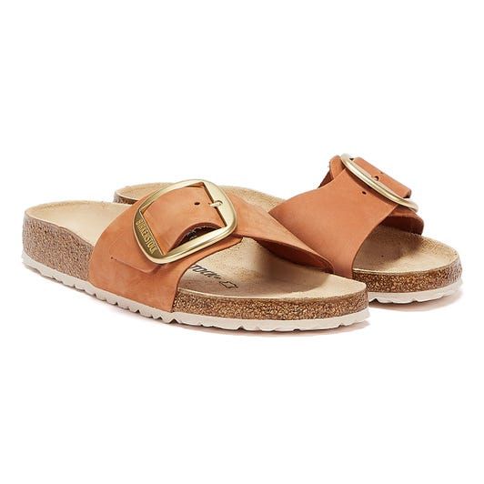 Birkenstock Madrid Big Buckle Nubuck Womens Brown Sandals