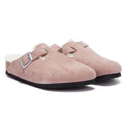 Birkenstock Boston Shearling Purple Slippers